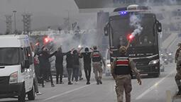 Beşiktaş kafilesine Sivas'ta coşkulu karşılama