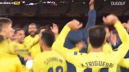 Villarreal'li futbolcuların final sevinci