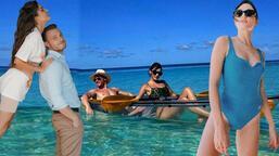 Hande Erçel'den yeni Maldivler pozları