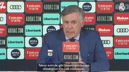Ancelotti: ''Real Madrid benim evim ve buraya döndüğüm için çok mutluyum''