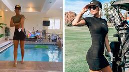 Hailey Rae Ostrom önce atış yaptı sonra havuza atladı!