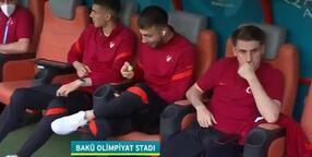 Son dakika haberi - Türkiye - İsviçre maçında tepki çeken görüntü! Şenol Güneş, Kerem Aktürkoğlu...