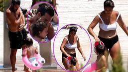 Hatipoğlu Ailesi tatilde! Kızının peşinden koştu