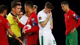 Son dakika haberler: Cristiano Ronaldo geceye damga vurdu! Şok eden hareket, rakibine tokat attı