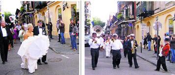 New Orleans'ta  bir düğün alayı