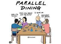 Çocuk, Yemek ve Ailecek Oturulan Sofralar