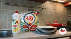 Dolu tabaklara sahip çıkmak sizden boş tabakları tertemiz yapmak Fairy'den!