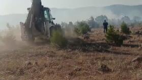 Balıkesir'in Savaştepe ilçesinde orman yangını çıktı