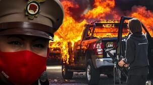Burası ABD değil! Sokaklar ateşe verildi