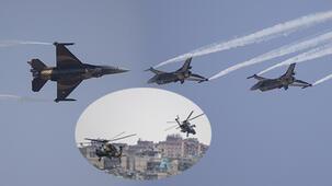 Havada burun buruna geldiler! Türk pilotlar...