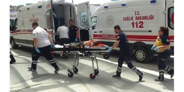 5'İnci Kattan Düşen Emin Yasid, Yaralandı