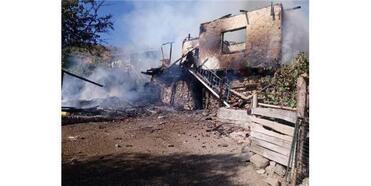 Çankırı'da Çıkan Yangında 1 Ev Kül Oldu