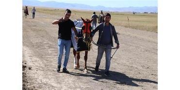 Ağrı'da Yapılan Mahalli At Yarışlarına Büyük İlgi