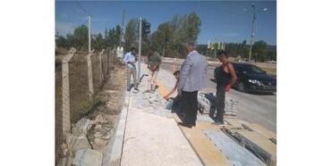 Hisarcık'ta Yeni Yaya Geçidi Çalışması