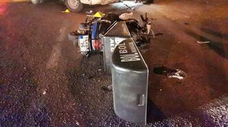 Kamyonetle çarpışan motosiklet sürücüsü öldü