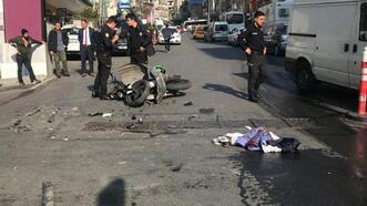 Şişli'de kaza! Motosiklet sürücüsü öldü