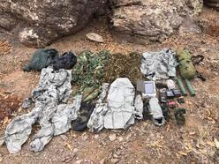 PKK'lıların termal kamerada görünmemek için giydiği kıyafetler ele geçirildi