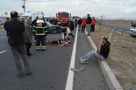 Aksaray'da cenaze yolunda kaza: 1 ölü, 3 yaralı