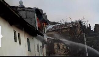 Şebinkarahisar'daki baca yangını korkuttu