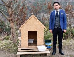 Ulukışla'da sokak köpeklerine kulübe