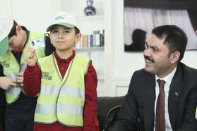 Bakan Kurum, çevre dostu Ahmet ile buluştu