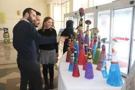 Yüksekova'da Toplum Ruh Sağlığı Merkezi'nde ki hastalar sergi açtı