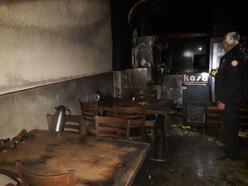 Orhaneli'de pide dükkanında yangın