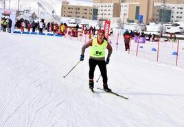 Bitlis'te kayaklı koşu müsabakaları sona erdi