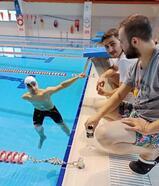 Kente yüzme havuzu geldi, engelli Rahmi'ye olimpiyat yolu açıldı