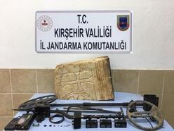 Kırşehir'de tarihi eser kaçakçısı 2 kişiye gözaltı