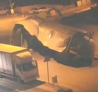 Malatya'da fırtına; direk yerinden söküldü, taziye çadırı uçtu