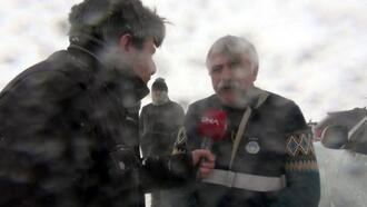 Çığ altında kalan itfaiye amiri, DHA'ya bir saat önce röportaj vermişti