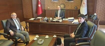 ÇOMÜ Rektörü Murat, Bakan Kasapoğlu'nu ziyaret etti