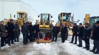 Hafik'ta karla mücadele sonrası kurban kesildi