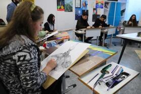 Başakşehir'de geleceğin ressamları yarıştı