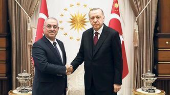 Erdoğan, Aksakal'ı kabul etti