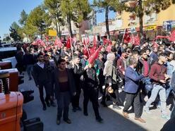 Kahta'da İdlib şehitleri için yürüyüş düzenlendi