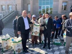 Ulukışla'da 60 çiftçiye 3.5 ton fasulye tohumu dağıtıldı