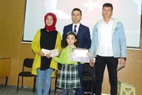 Hisarcık'ta, dereceye giren öğrenciler ödüllendirildi