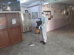 Orhaneli'de okullar dezenfekte ediliyor