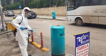 Kilis'te korona virüse karşı dezenfekte işlemi yürütülüyor