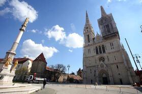 Zagreb sokakları en sakin günlerini yaşıyor