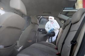 Seyhan'da araçlar dezenfekte edildi