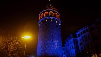 İstanbul'un simge yapılarında otizm farkındalığı