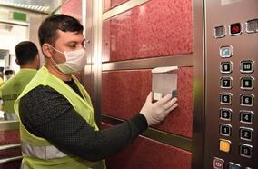 Mersin'de asansörlere dezenfektan ünitesi