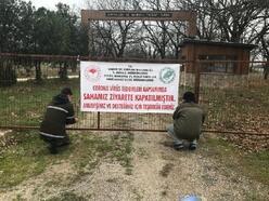 Kırklareli'de tabiat parkı valilik kararıyla kapatıldı