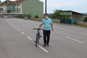 Kızını görebilmek için Sakarya'dan Çanakkale'ye bisikletle gitti