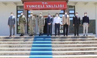 Tunceli Valisi Özkan'a ziyaretler sürüyor