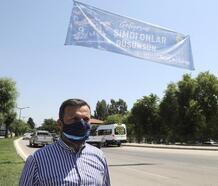 Yüreğir, Adana Demirspor pankartları ile donatıldı