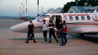 Kalp damarları doğuştan ters olan bebek ambulans uçakla Ankara'ya geldi